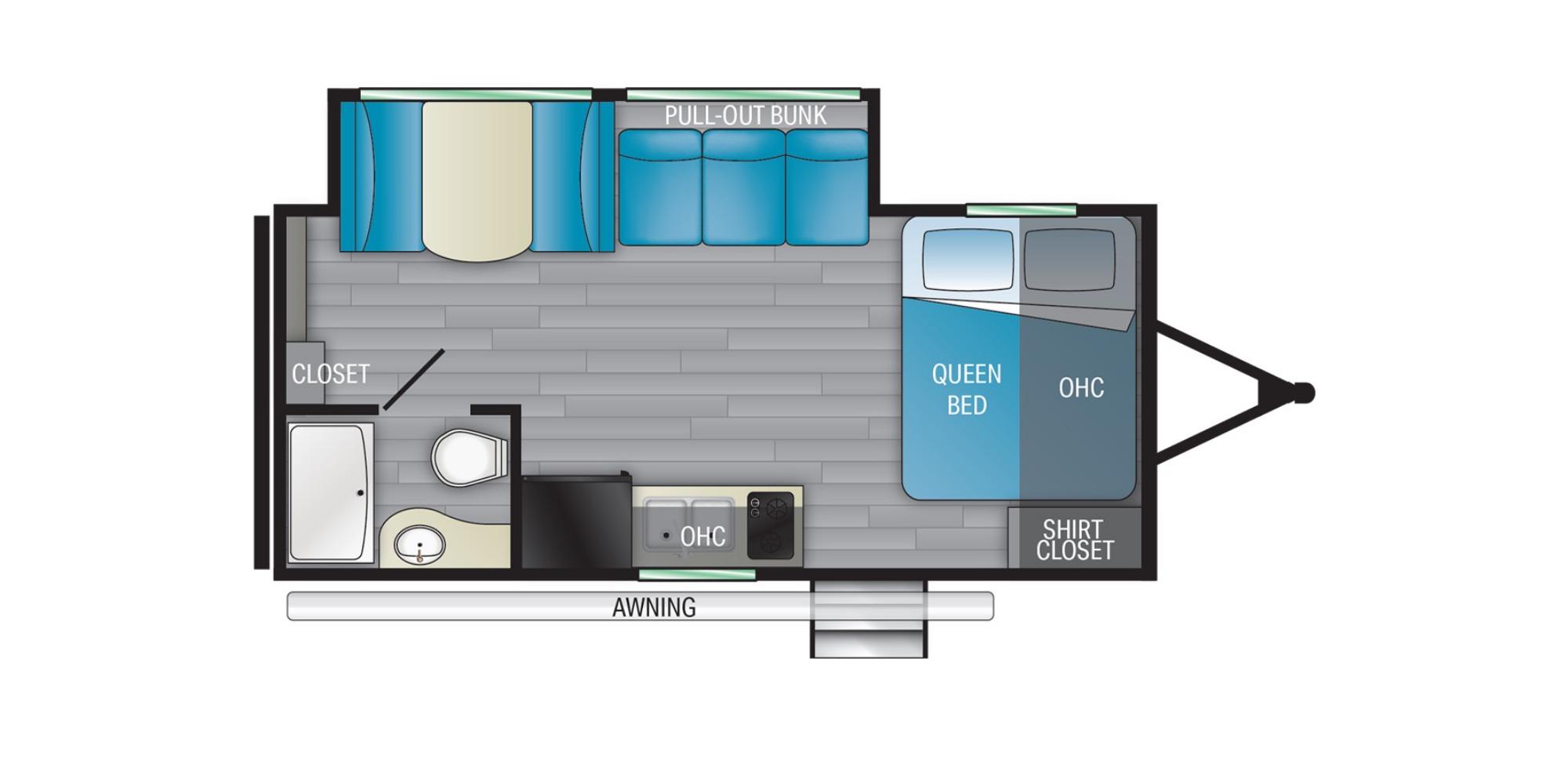 View Floor Plan for 2022 HEARTLAND PIONEER SS171