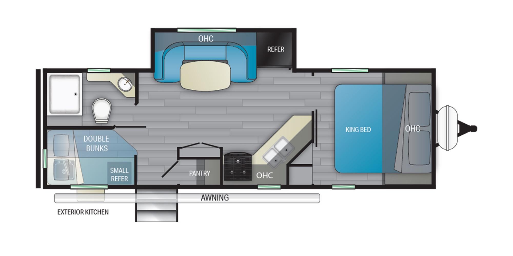 View Floor Plan for 2022 HEARTLAND MALLARD IDM251BH