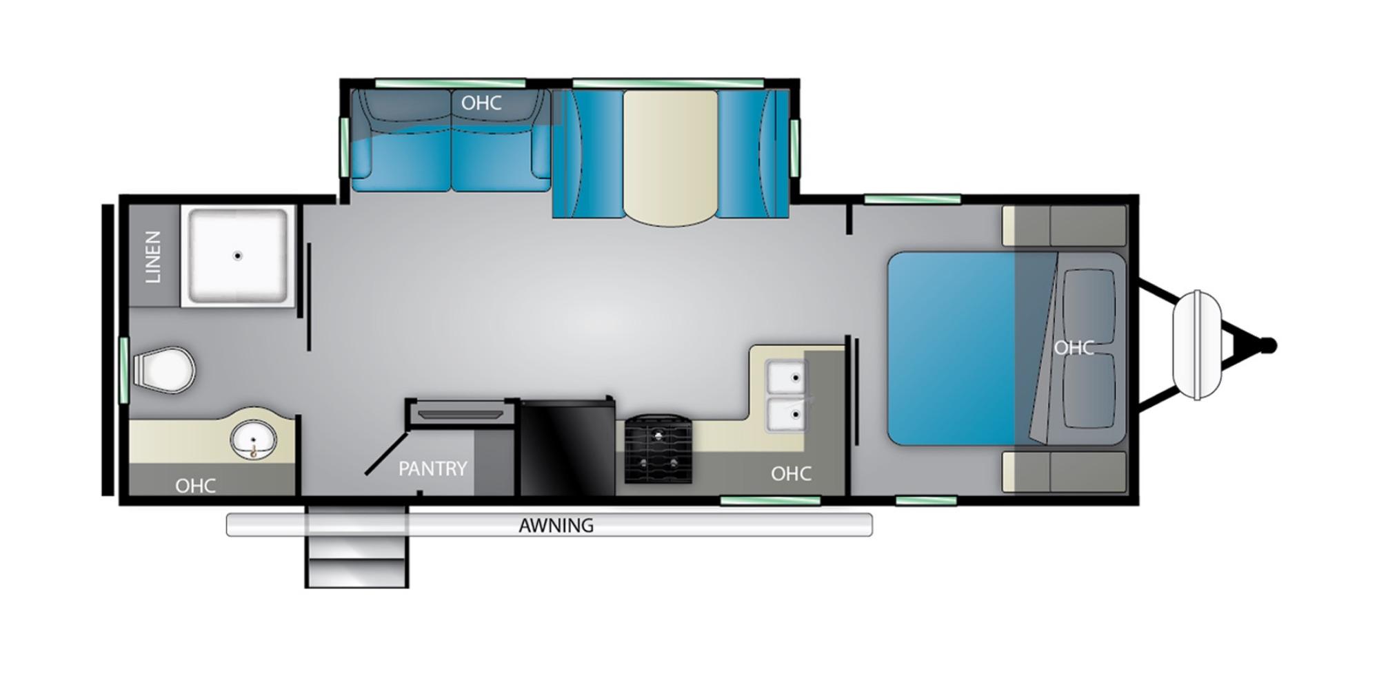 View Floor Plan for 2022 HEARTLAND MALLARD IDM260