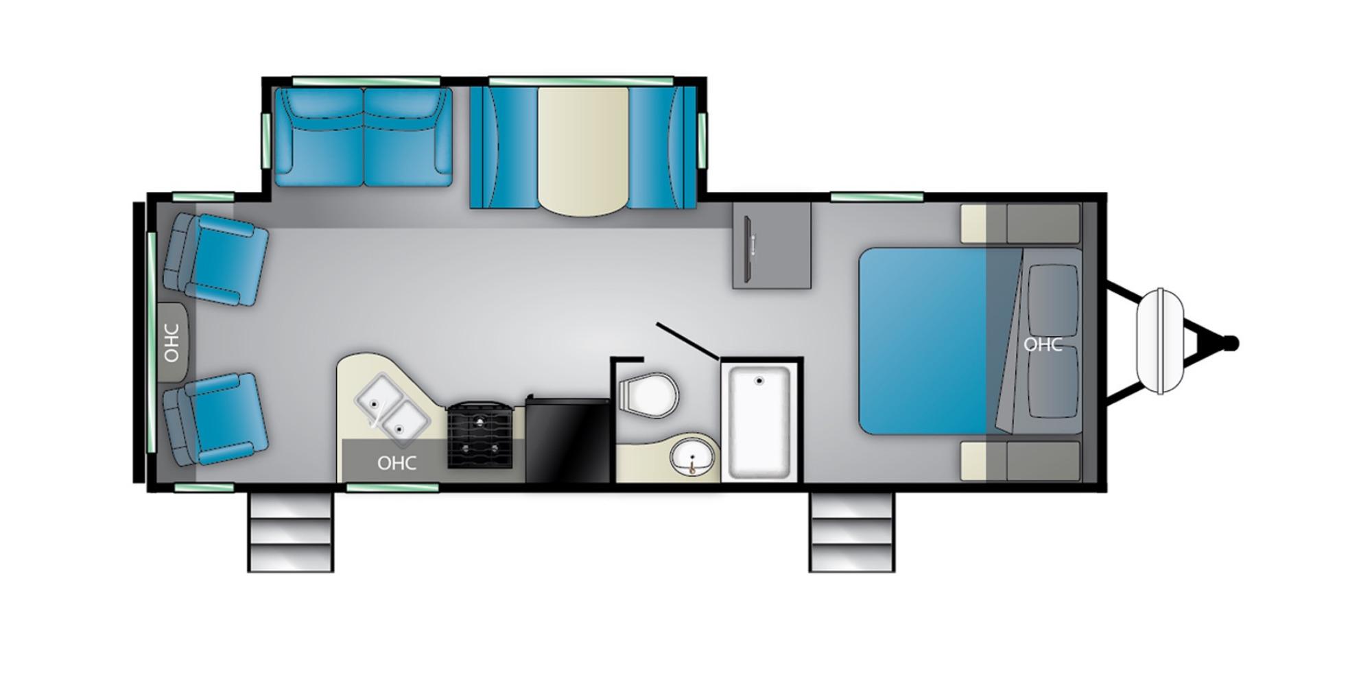 View Floor Plan for 2022 HEARTLAND MALLARD IDM27