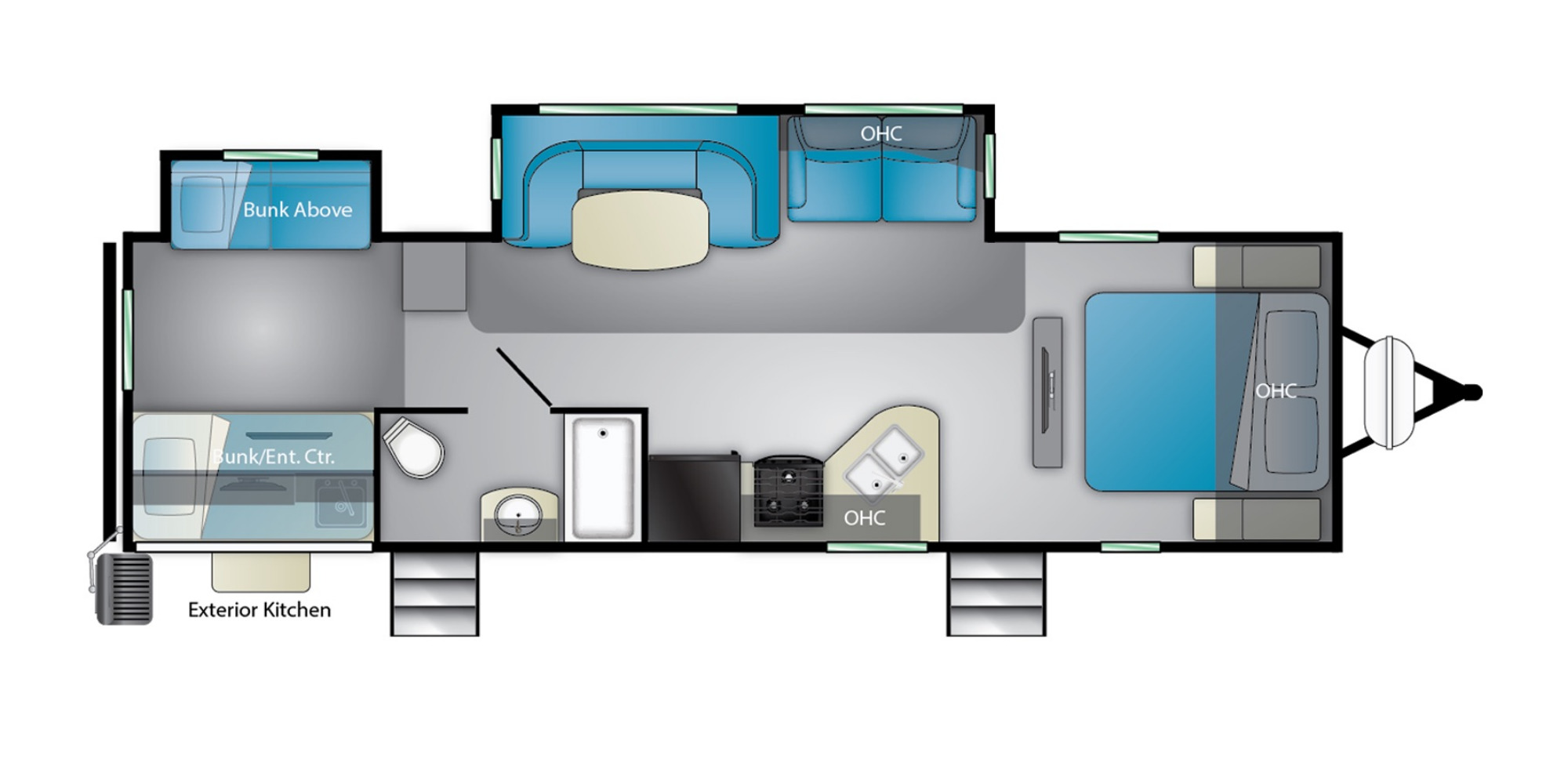 View Floor Plan for 2022 HEARTLAND MALLARD IDM32