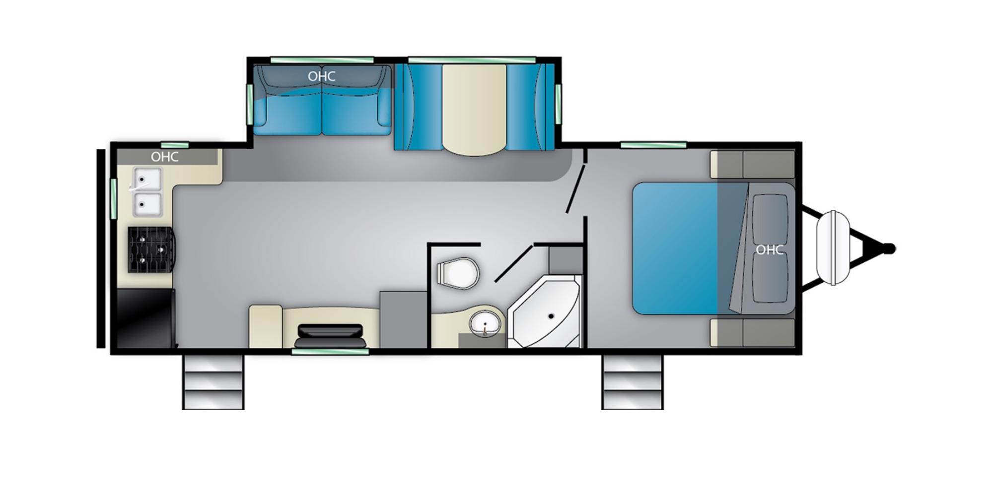 View Floor Plan for 2022 HEARTLAND MALLARD M25