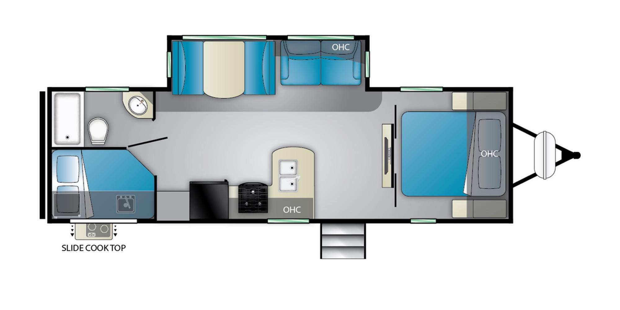 View Floor Plan for 2022 HEARTLAND MALLARD M26