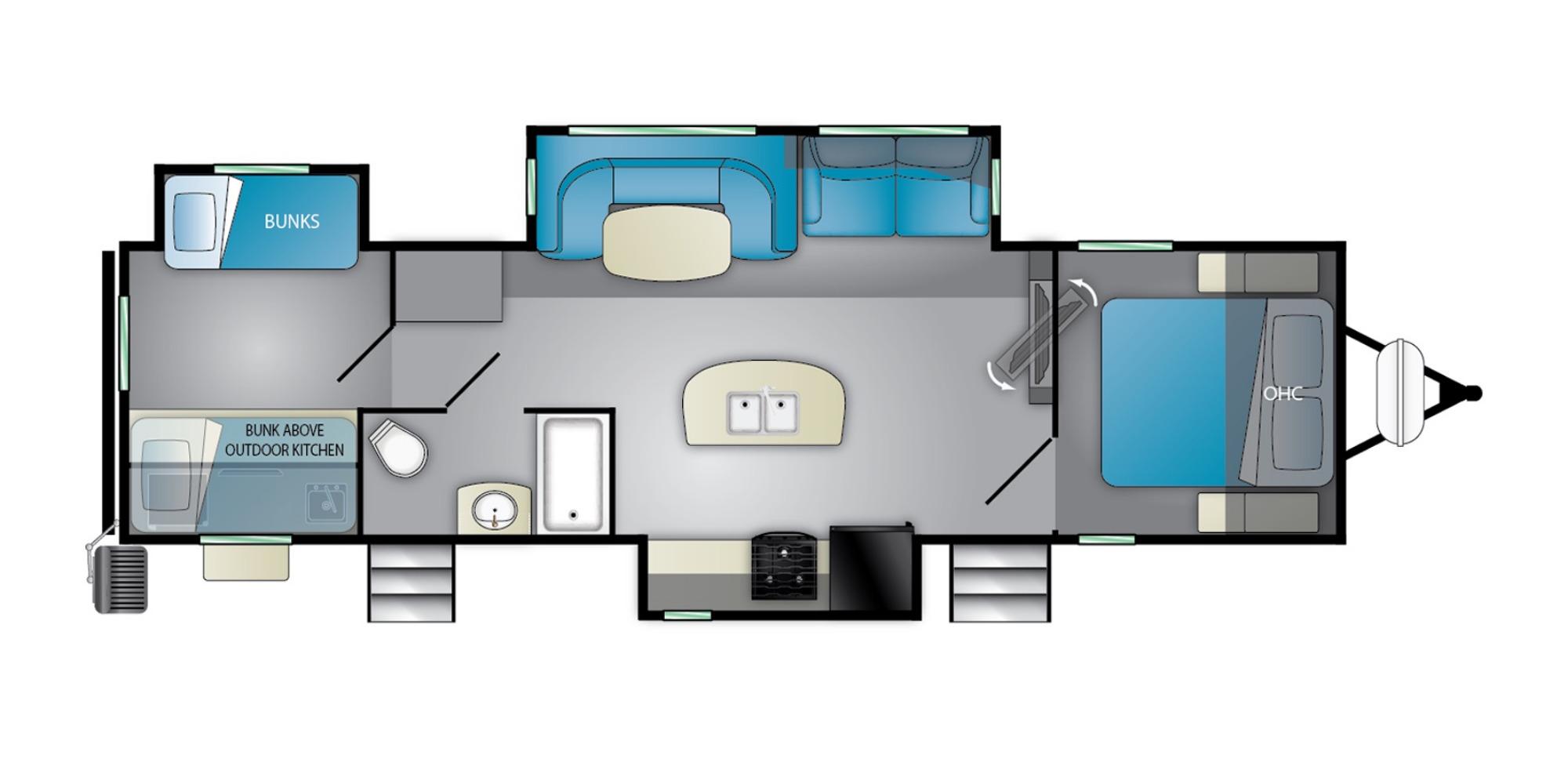 View Floor Plan for 2022 HEARTLAND MALLARD M33