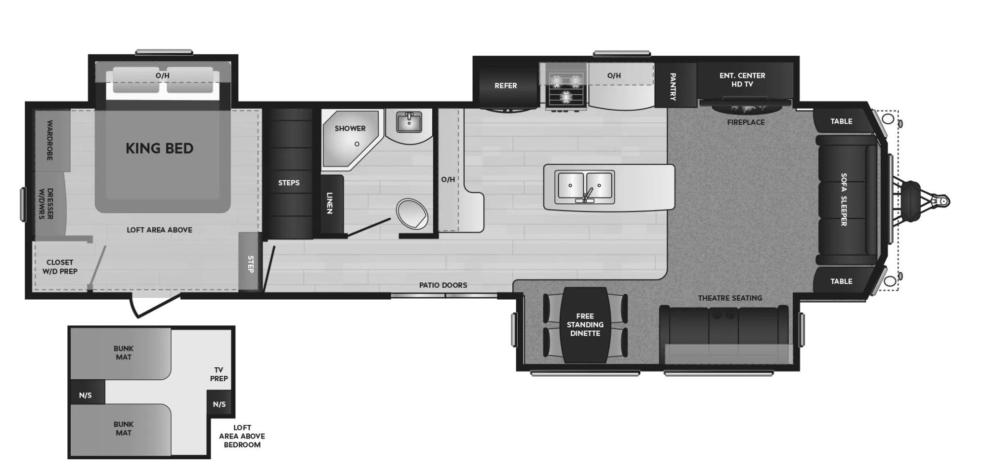 View Floor Plan for 2021 KEYSTONE RESIDENCE 40LOFT