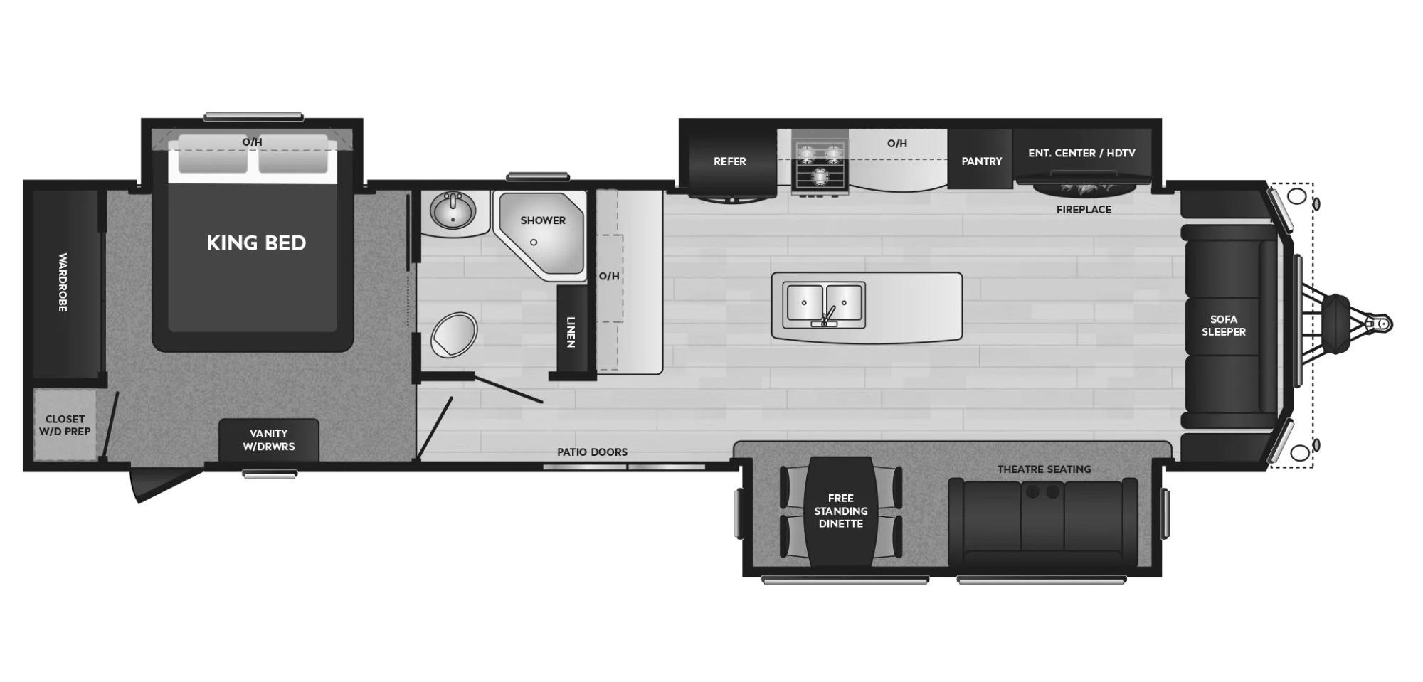 View Floor Plan for 2021 KEYSTONE RESIDENCE 40MKTS