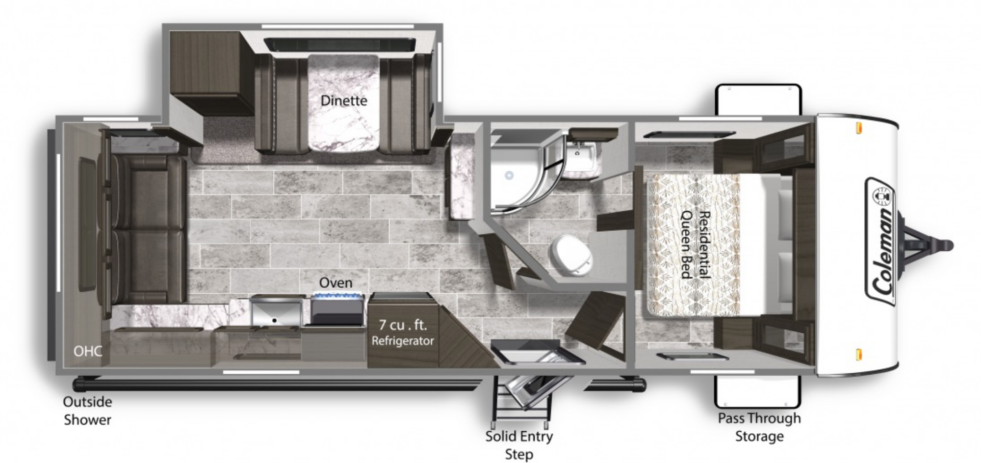 View Floor Plan for 2022 COLEMAN COLEMAN LIGHT 2515RL