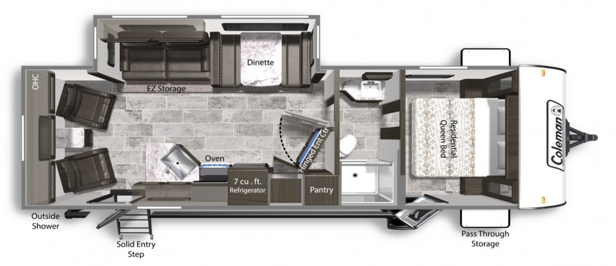 View Floor Plan for 2022 COLEMAN COLEMAN LIGHT 2715RL
