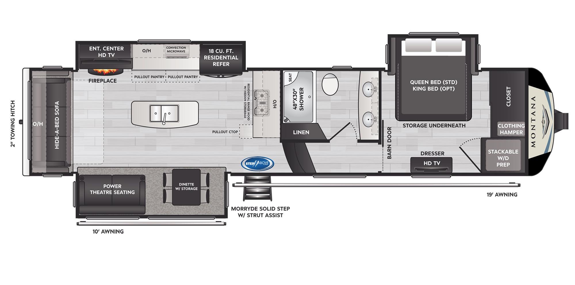 View Floor Plan for 2022 KEYSTONE MONTANA 3231CK