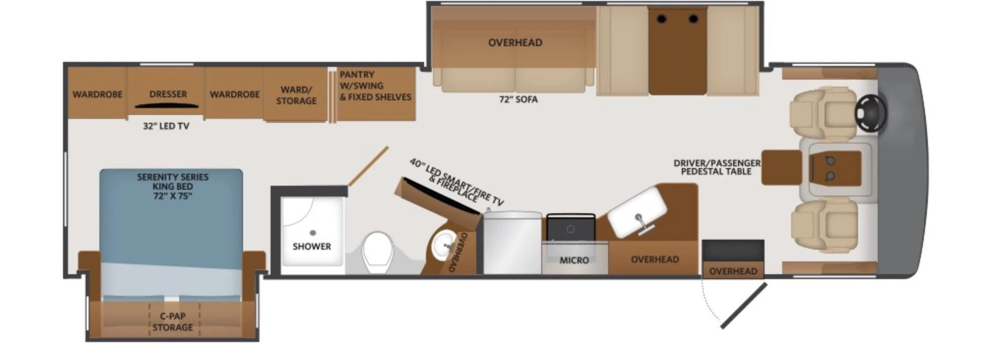 View Floor Plan for 2022 FLEETWOOD FORTIS 34MB