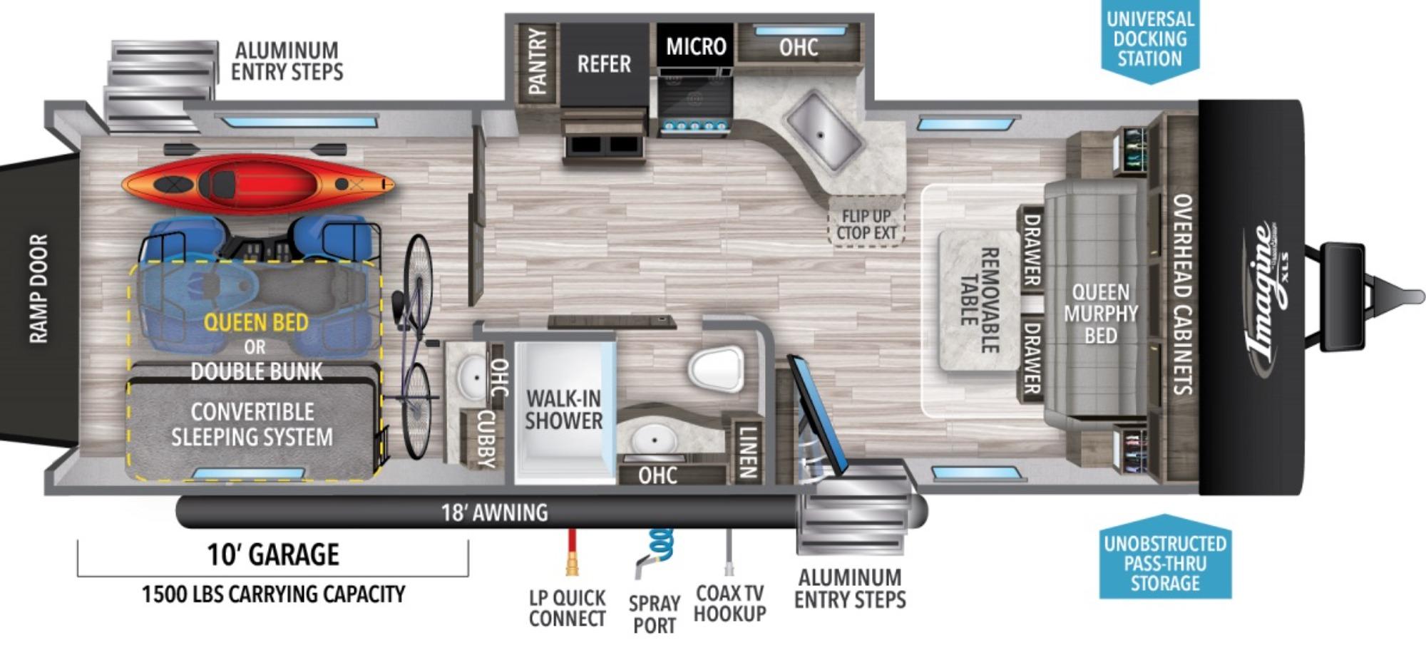 View Floor Plan for 2021 GRAND DESIGN IMAGINE XLS 24MPR