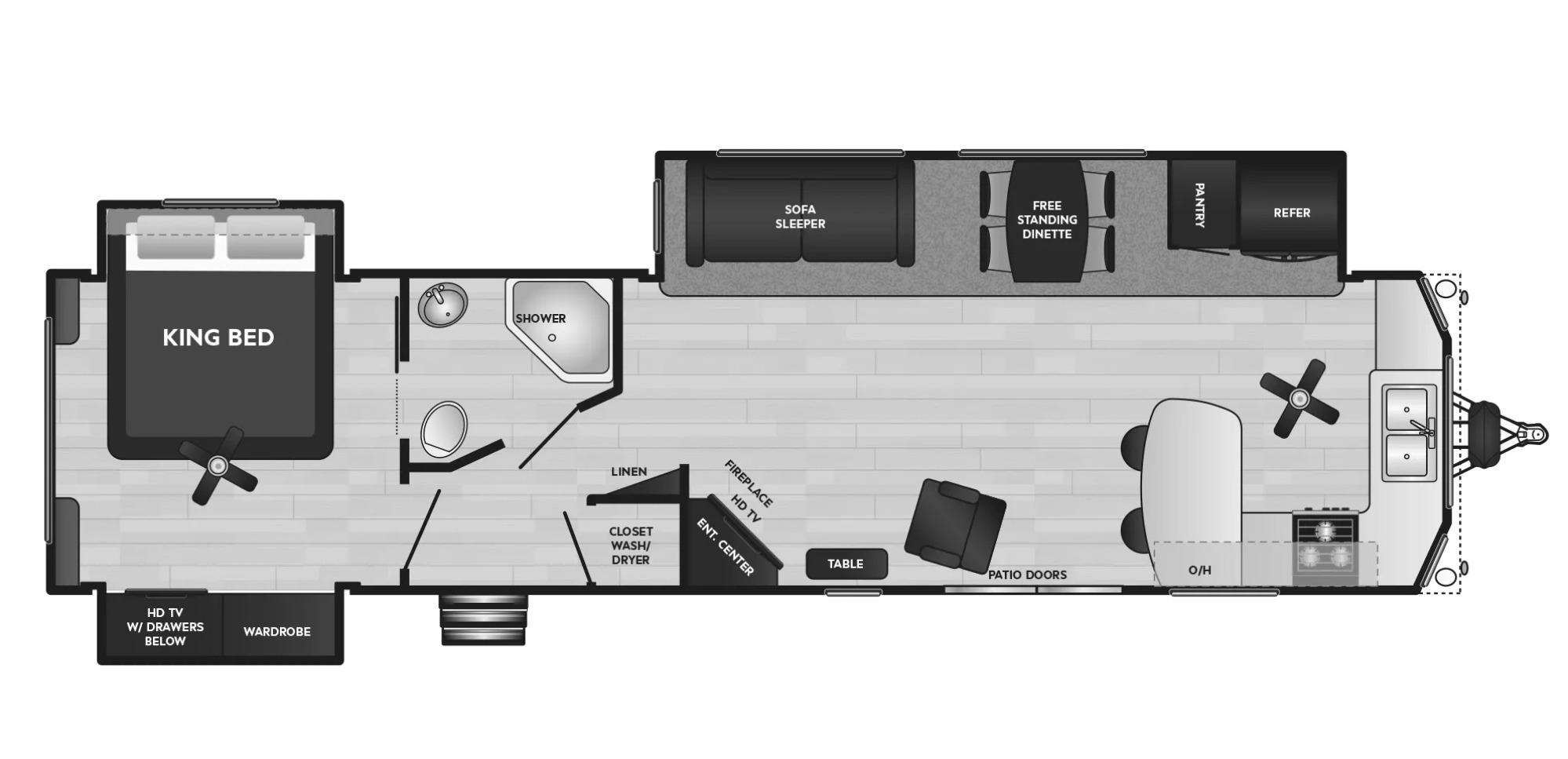 View Floor Plan for 2021 KEYSTONE RESIDENCE 40FKSS