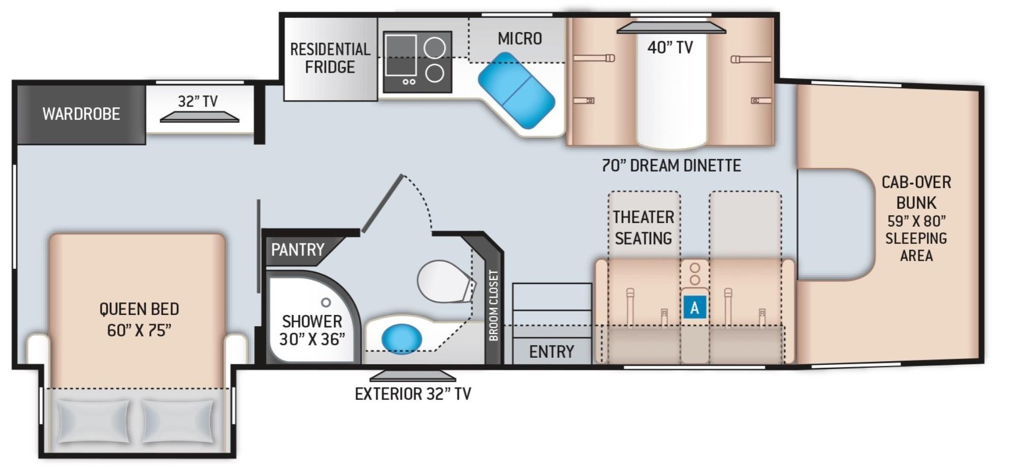 View Floor Plan for 2022 THOR MAGNITUDE XG32