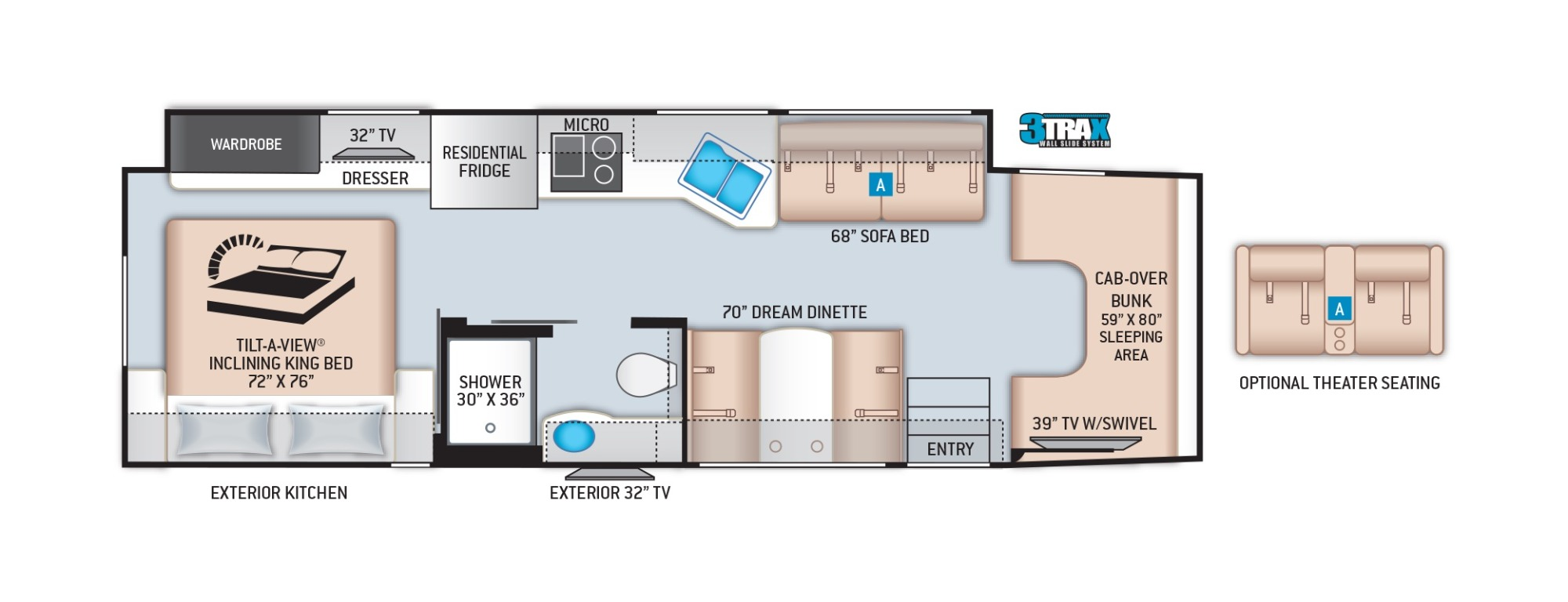 View Floor Plan for 2022 THOR OMNI SV34