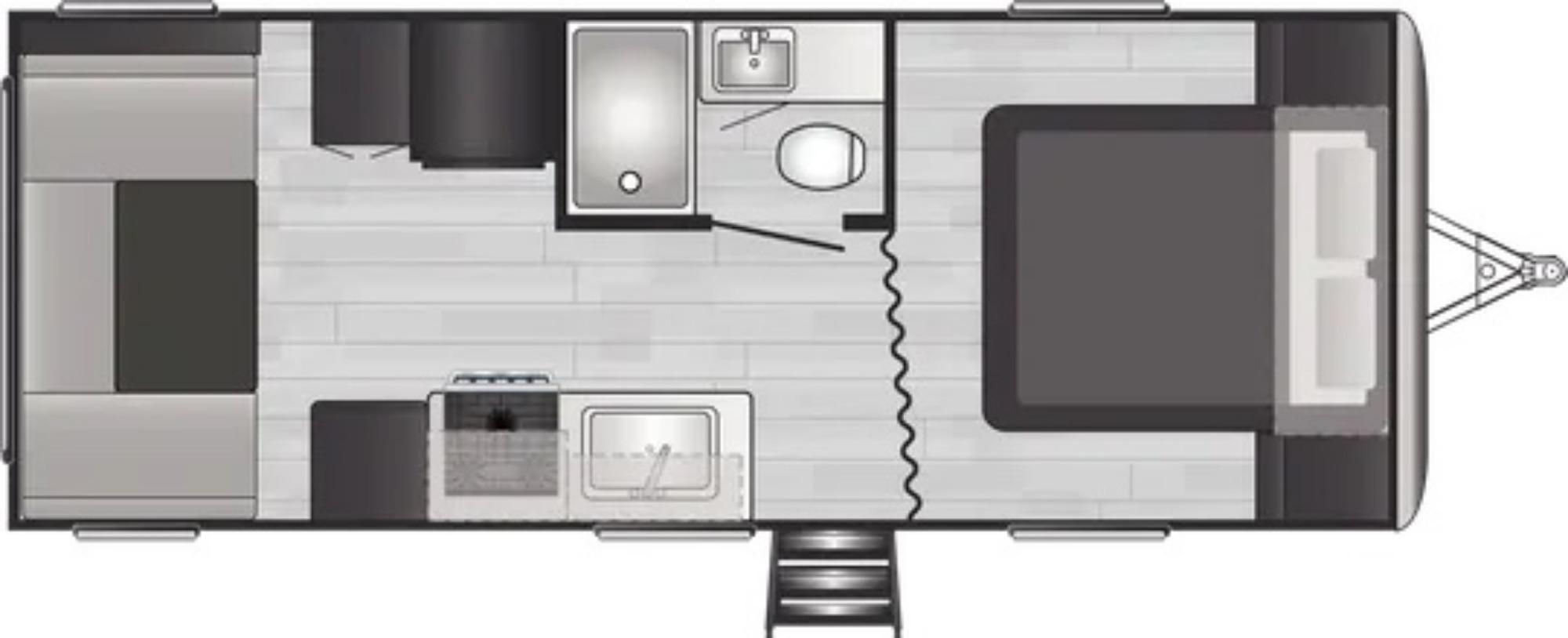 View Floor Plan for 2022 KEYSTONE SPRINGDALE 202QBWE