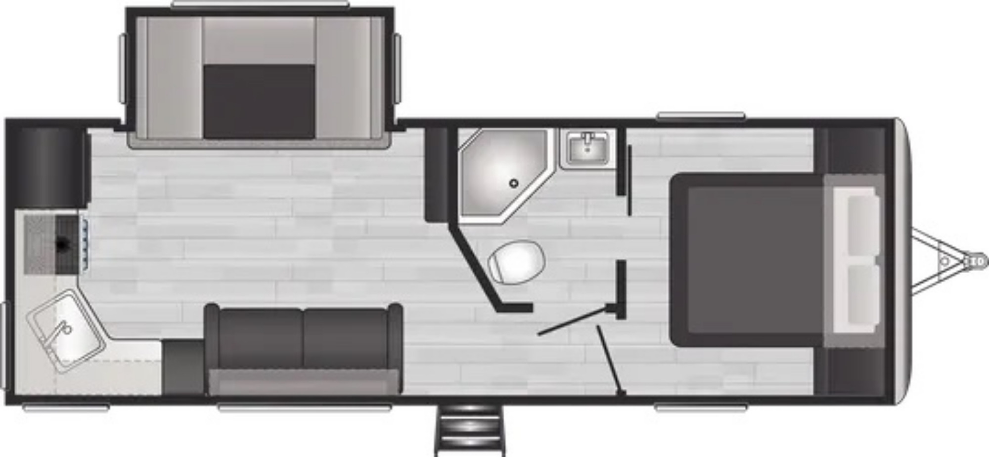 View Floor Plan for 2022 KEYSTONE SPRINGDALE 242RKWE