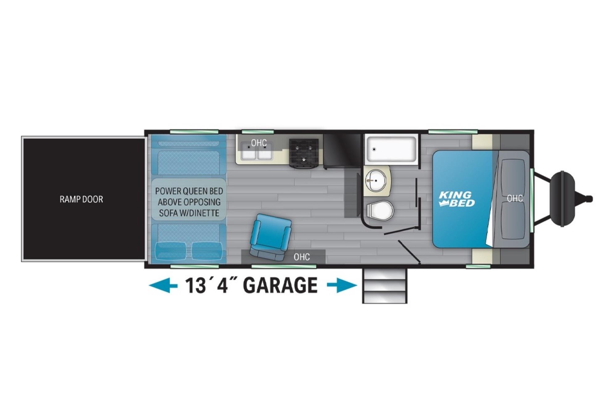 View Floor Plan for 2021 HEARTLAND FUEL SPORT 250