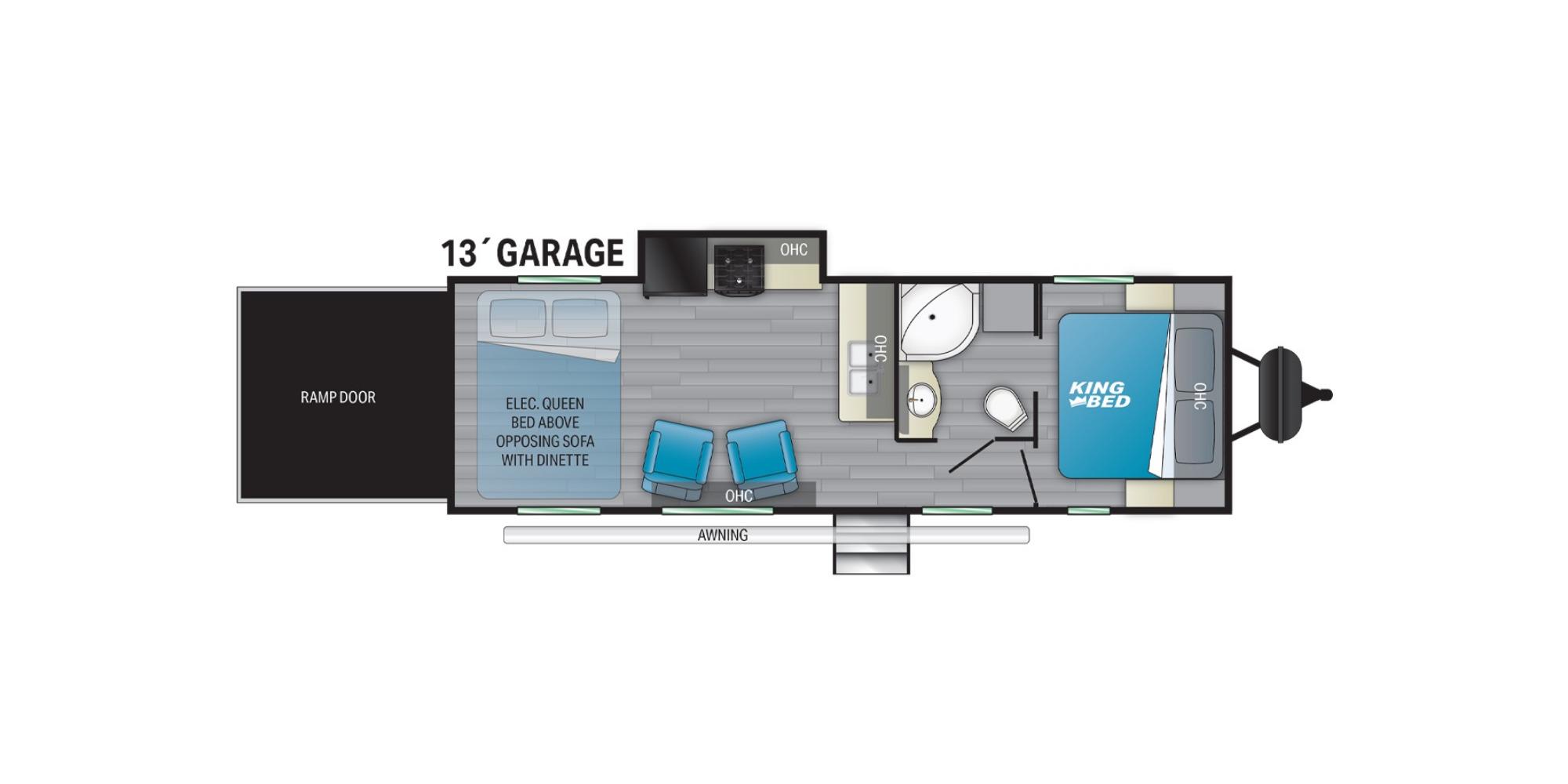 View Floor Plan for 2022 HEARTLAND FUEL SPORT 265