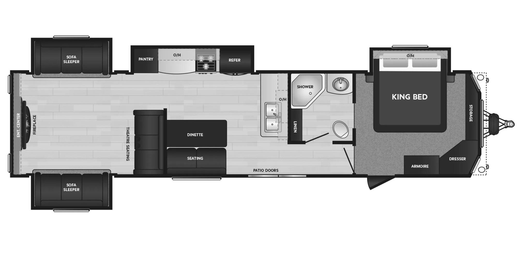 View Floor Plan for 2021 KEYSTONE RESIDENCE 40RDEN