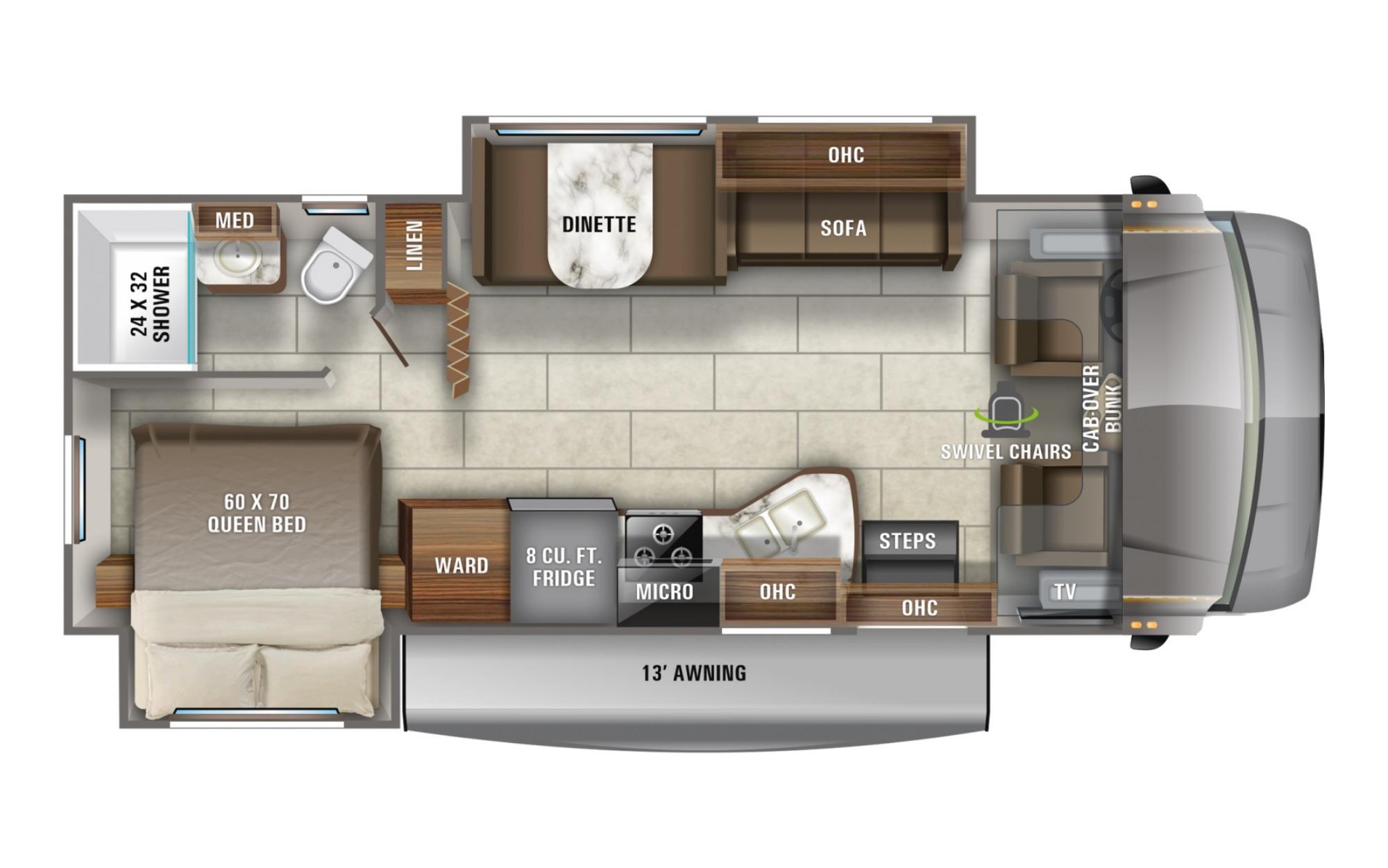 View Floor Plan for 2022 JAYCO REDHAWK 26XD