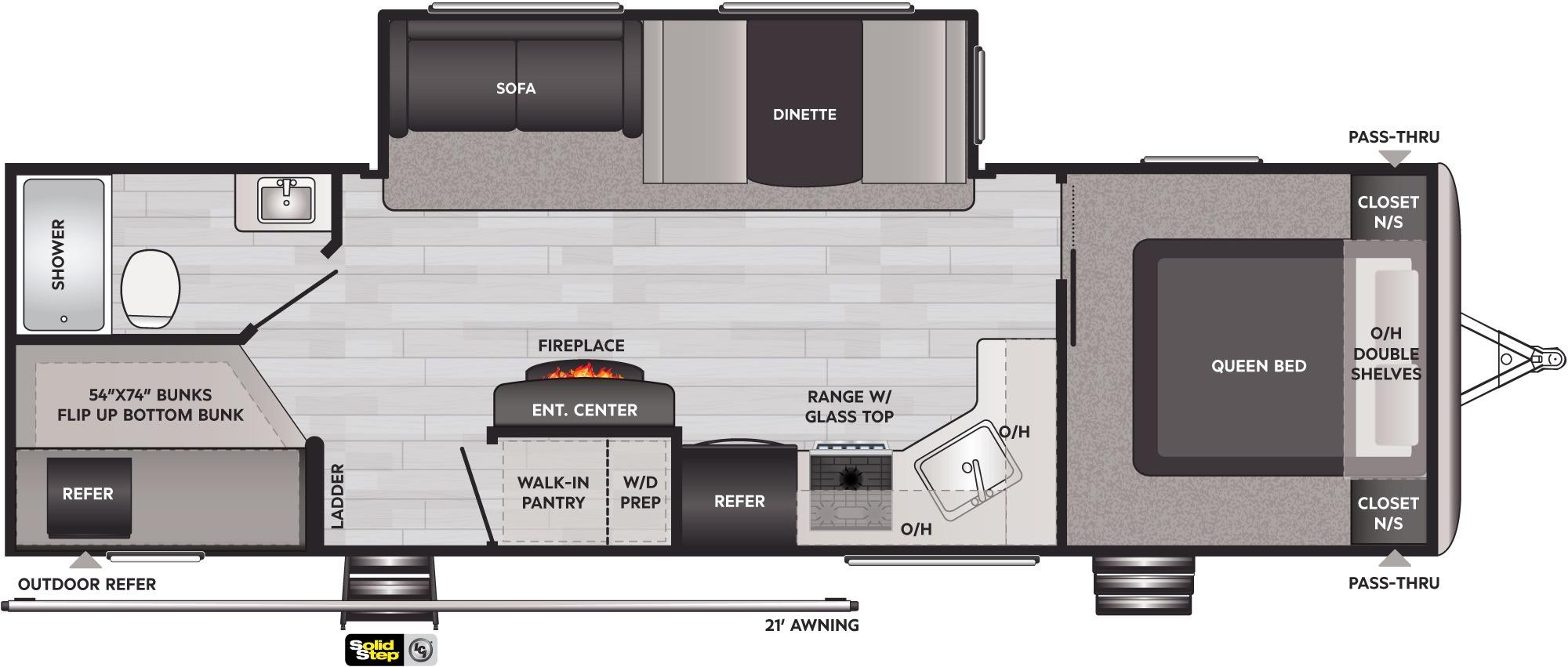 View Floor Plan for 2022 KEYSTONE SPRINGDALE 280BHWE