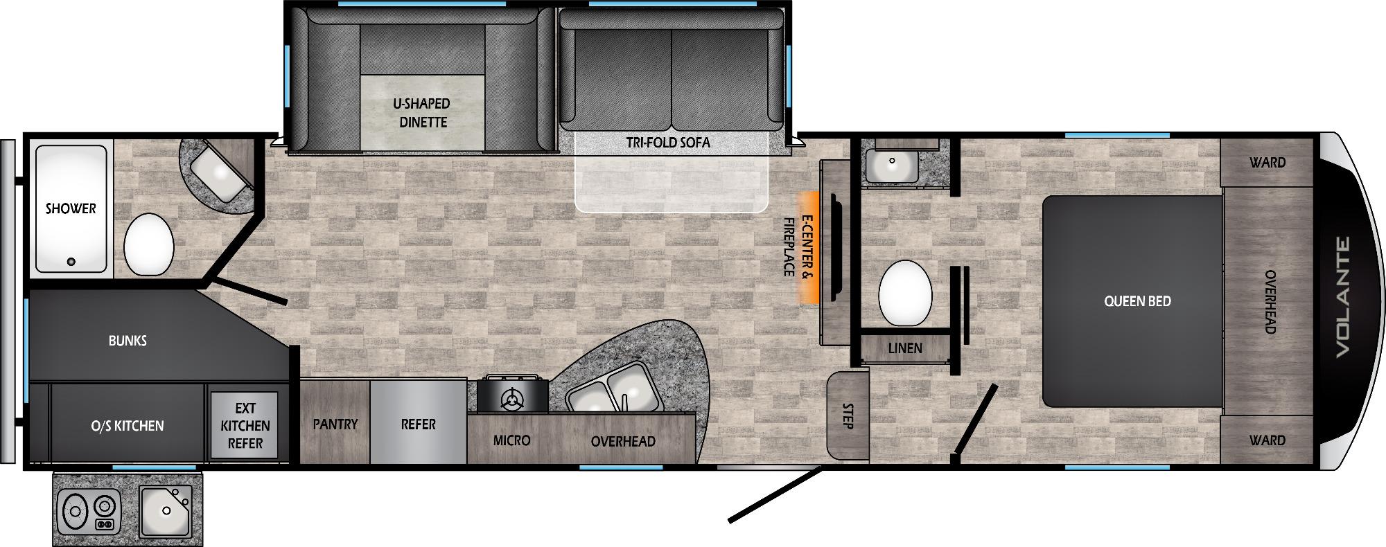 View Floor Plan for 2022 CROSSROADS VOLANTE 270BH
