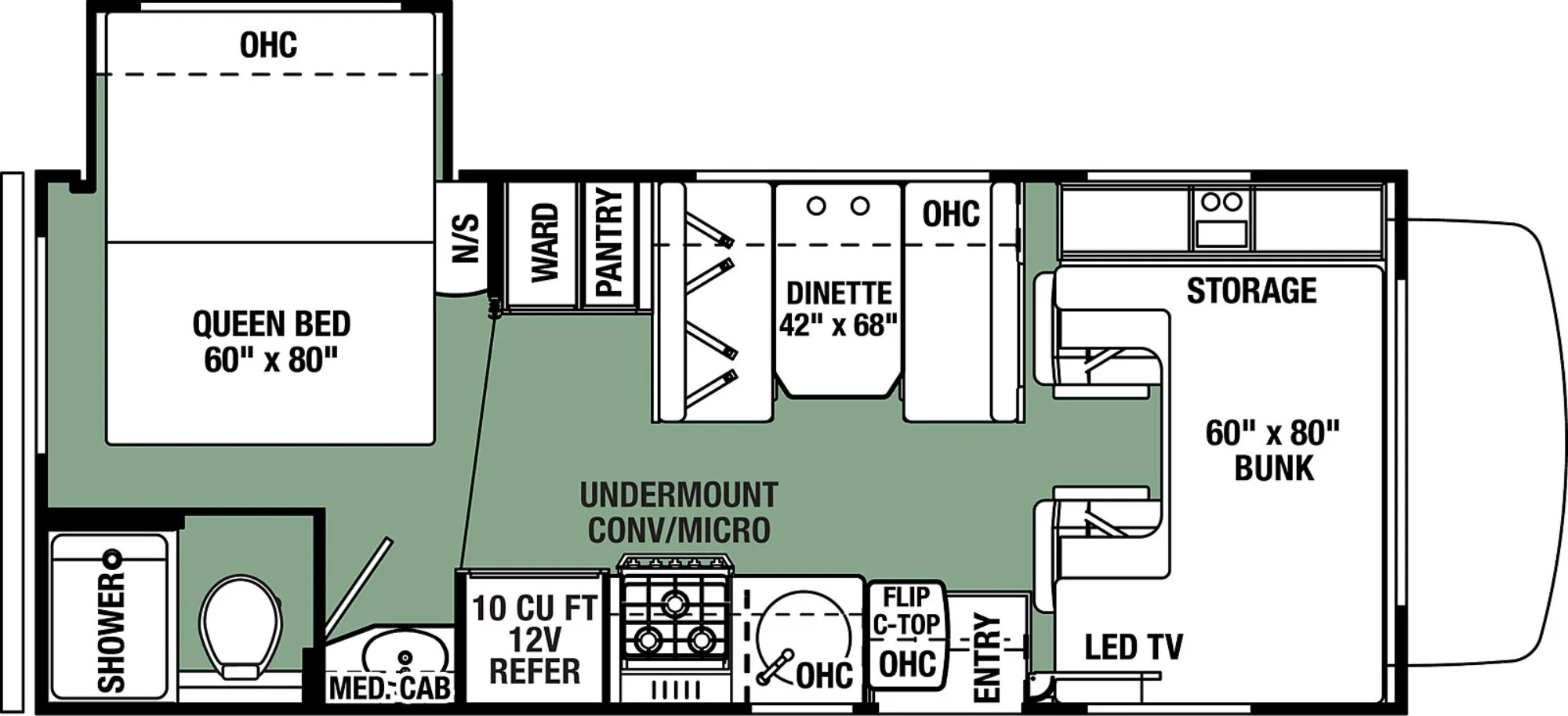 View Floor Plan for 2022 FOREST RIVER FORESTER LE 2251SC