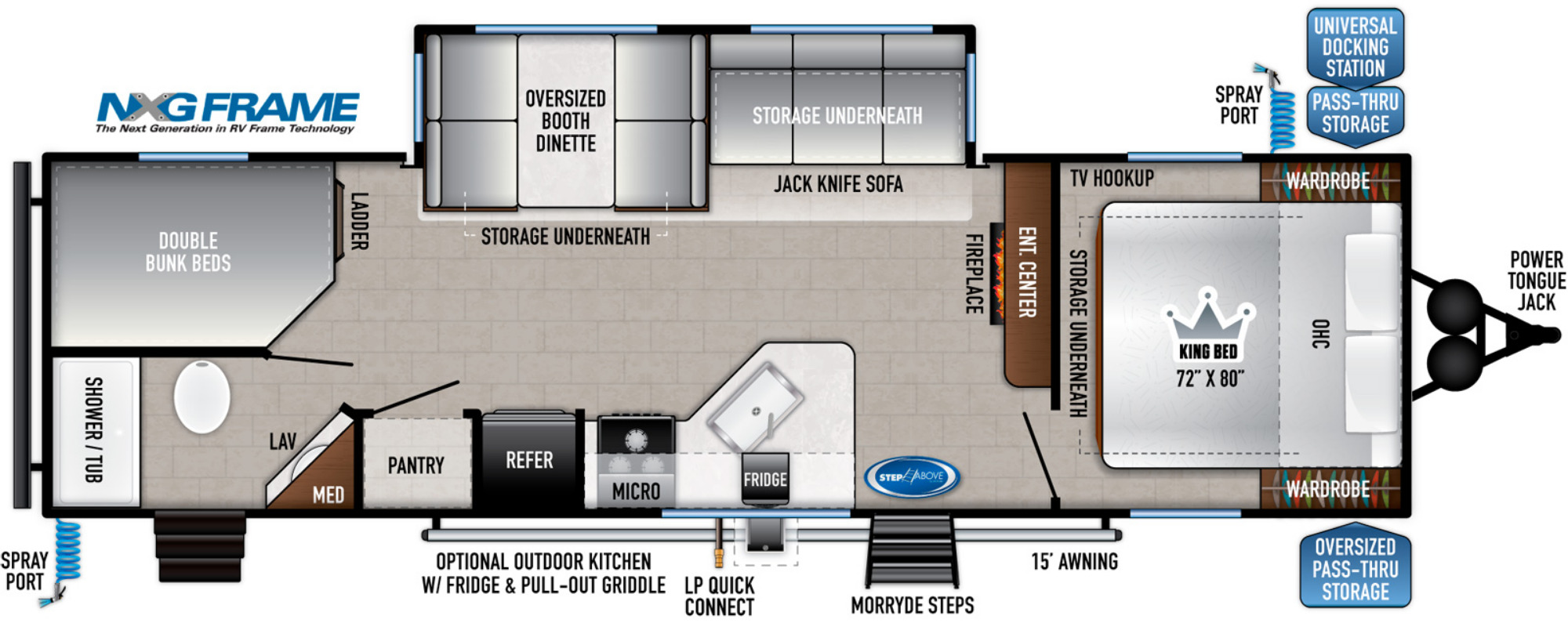 View Floor Plan for 2022 EAST TO WEST SILVER LAKE 27K2D