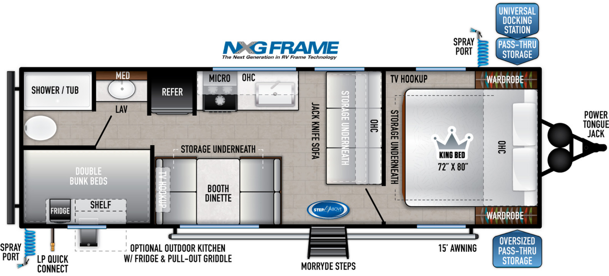 View Floor Plan for 2022 EAST TO WEST SILVER LAKE 27KNS
