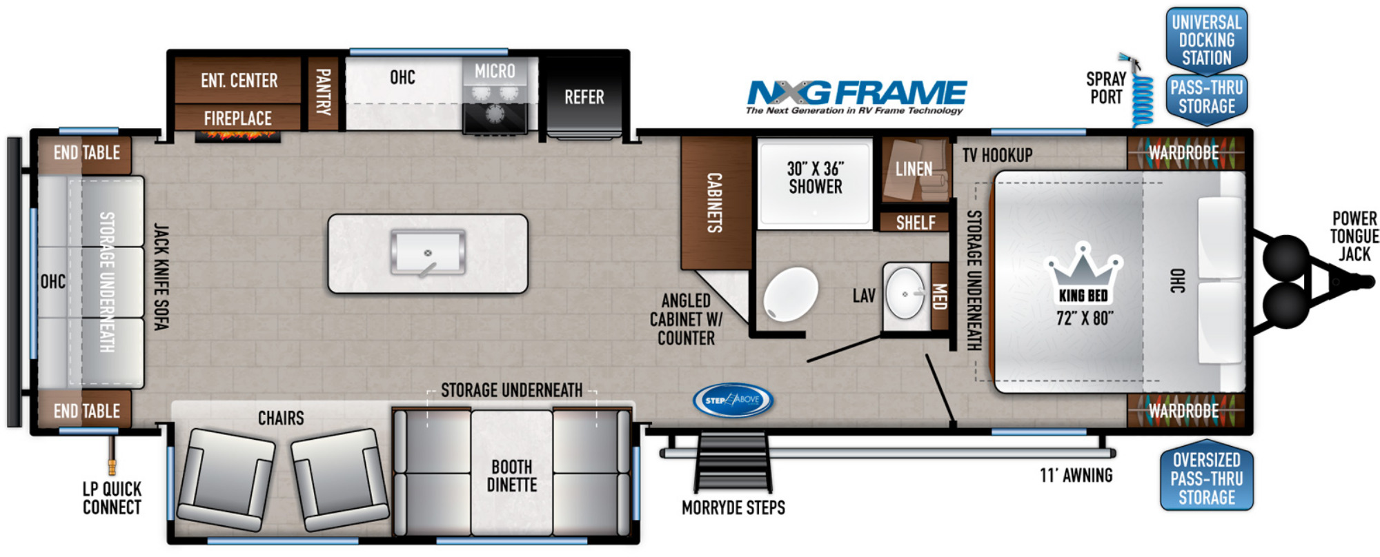 View Floor Plan for 2022 EAST TO WEST SILVER LAKE 29K2S
