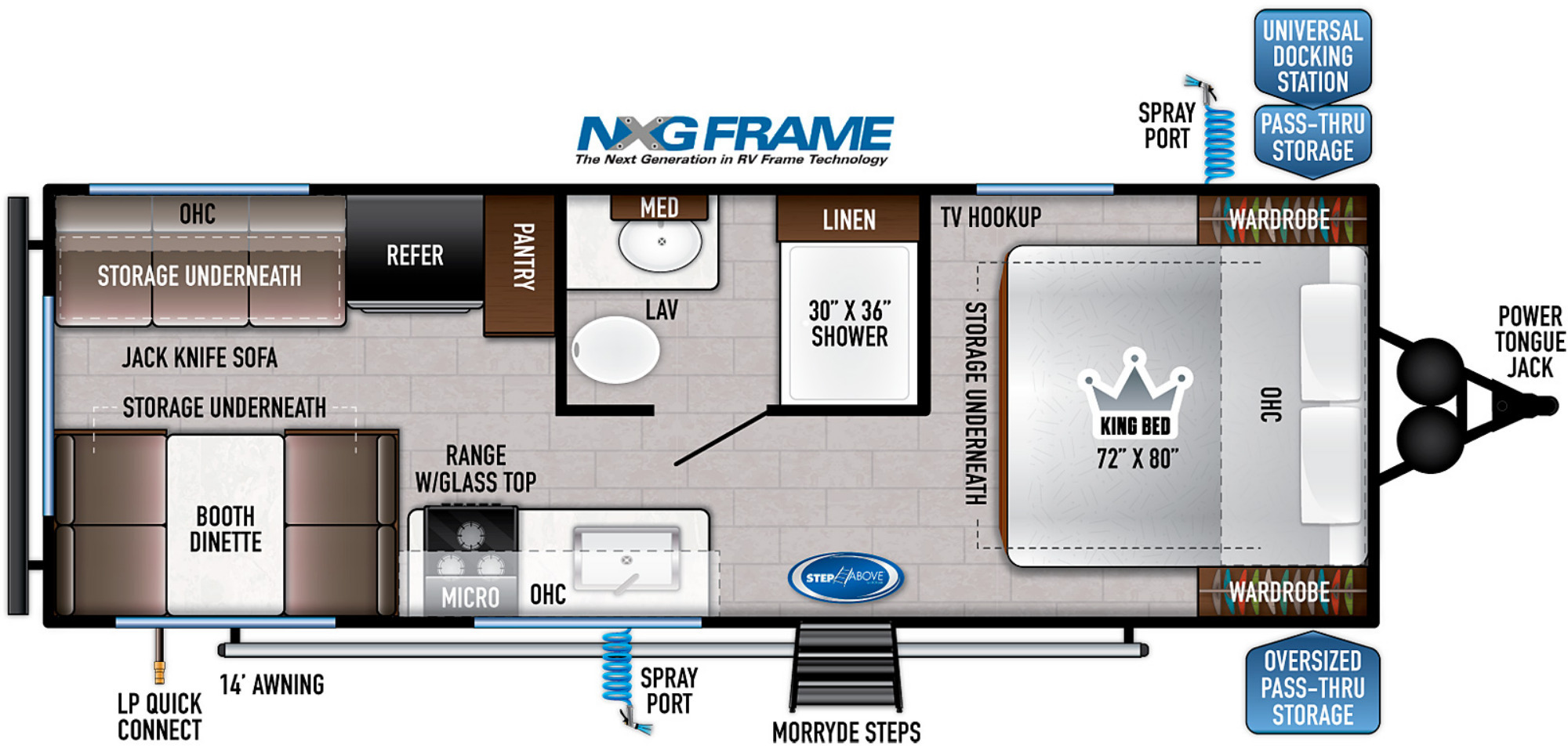 View Floor Plan for 2022 EAST TO WEST SILVER LAKE 20KRD