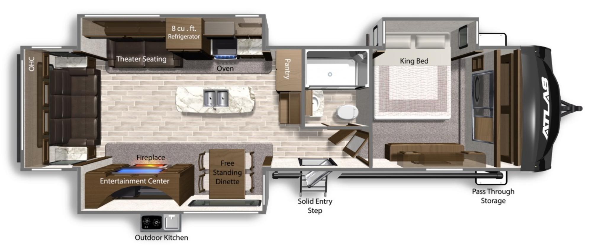 View Floor Plan for 2022 DUTCHMEN ATLAS 3302RL