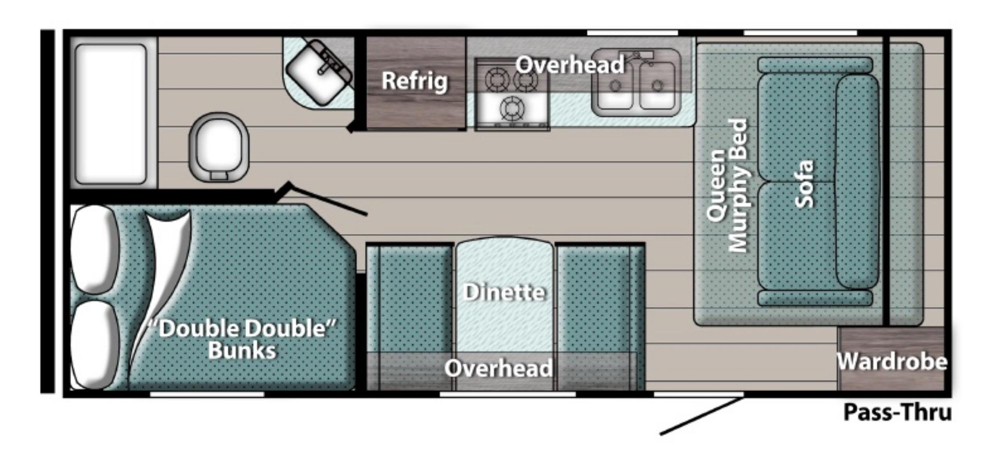 View Floor Plan for 2022 GULF STREAM ENLIGHTEN 19BH