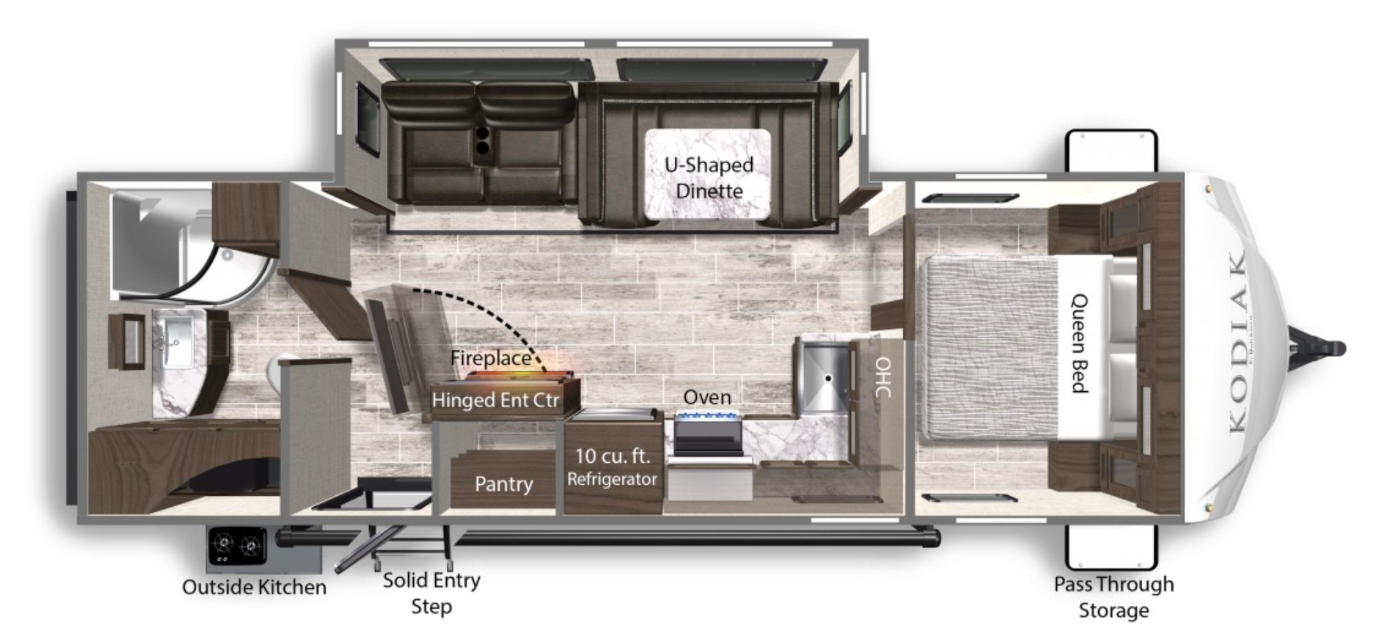 View Floor Plan for 2022 DUTCHMEN KODIAK 261RBSL