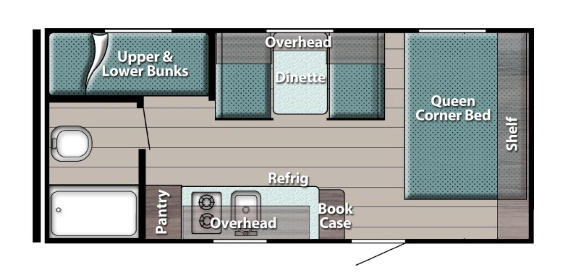 View Floor Plan for 2022 GULF STREAM ENLIGHTEN 18BH
