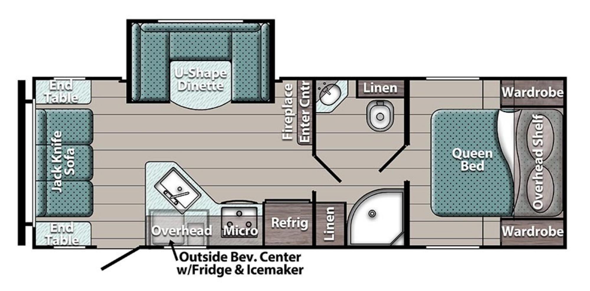 View Floor Plan for 2022 GULF STREAM ENLIGHTEN 23RLS