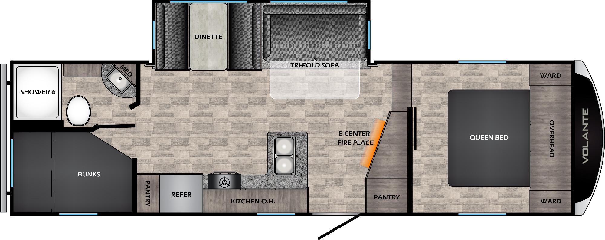 View Floor Plan for 2022 CROSSROADS VOLANTE 251BH