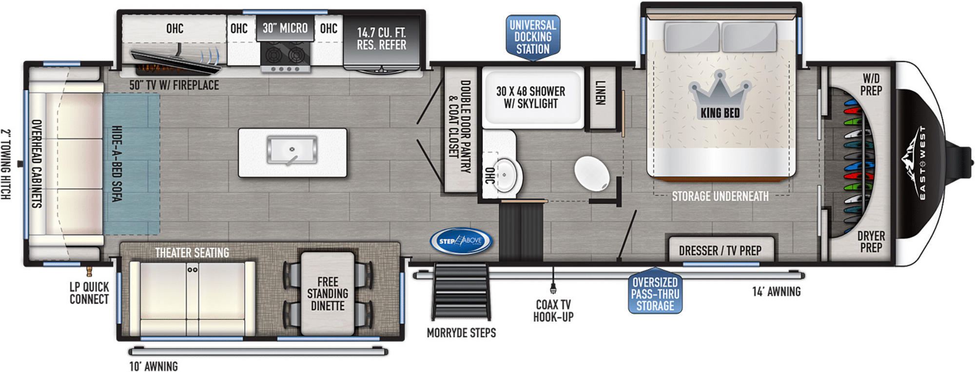 View Floor Plan for 2022 EAST TO WEST TANDARA 320RL