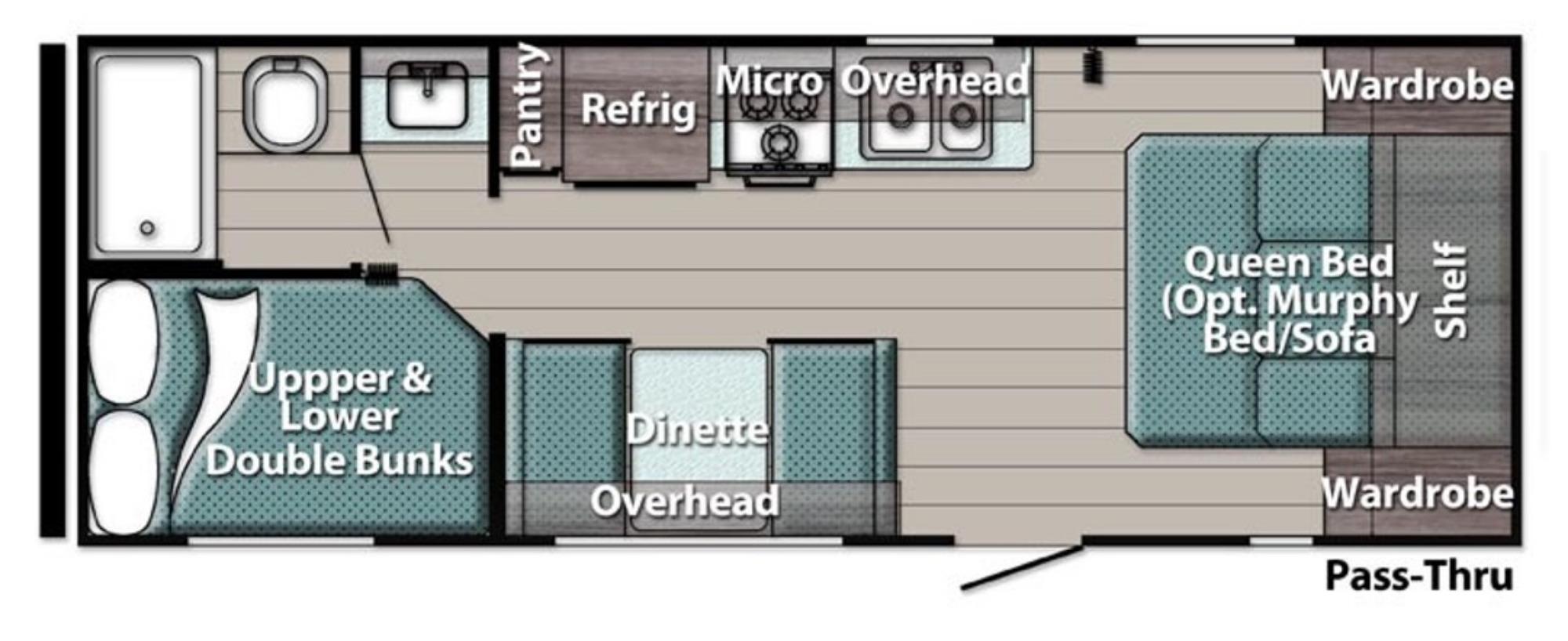 View Floor Plan for 2022 GULF STREAM ENLIGHTEN 25BH